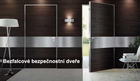 bezfalcové bezpečnostní dveře do domu Hradec Králové