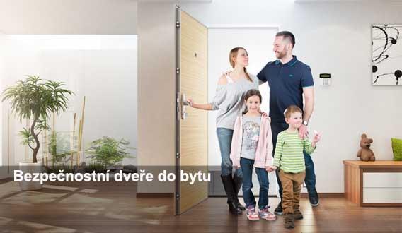bezpečnostní protipožární dveře do bytu Hradec Králové